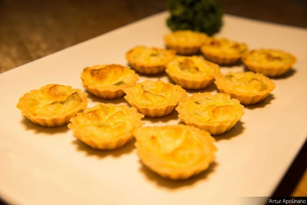 Mini quiche de alho poró
